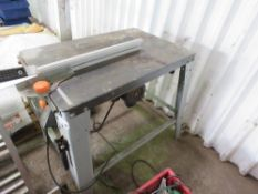 1600WATT RATED 240VOLT TABLE SAW. UNTESTED, CONDITION UNKNOWN NO VAT ON HAMMER PRICE.