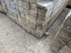 LARGE PACK OF UNTREATED FENCE CLADDING TIMBER BOARDS, 1.83M LENGTH X 10CM WIDTH X 2CM DEPTH APPROX.