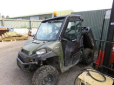 POLARIS RANGER 1000 RTV WITH FULL CAB. 1995 REC HOURS. YEAR 2017 BUILD. TYPE: R18RTED1F1 VIN:RAPRTE