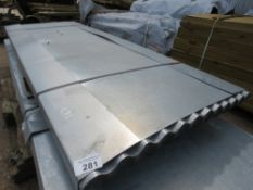 PACK OF 73NO 8FT CORRUGATED ROOFING SHEETS.
