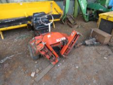 ALLEN TRIPLE RIDE ON MOWER. ELECTRIC START. WHEN TESTED WAS SEEN TO TURN OVER BUT NO FUEL IN TANK.