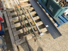 PALLET CONTAINING STAND PIPE, STAND PIPE SPANNERS, FLASHINGS ETC. NO VAT ON HAMMER PRICE.