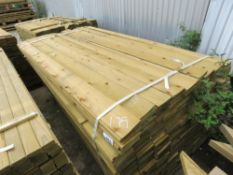 LARGE PACK OF FEATHER EDGE FENCE CLADDING TIMBER BOARDS, 1.79M LENGTH X 10CM WIDTH APPROX.