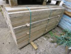 LARGE PACK OF UNTREATED FENCE CLADDING TIMBER BOARDS, 1.83 M LENGTH X 10CM WIDTH X 2CM DEPTH APPROX