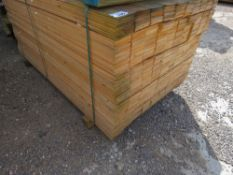 LARGE PACK OF UNTREATED HIT AND MISS FENCE CLADDING TIMBER BOARDS, 1.75 M LENGTH X 9.5CM WIDTH APPRO