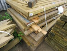9 X ASSORTED TIMBER GATES.