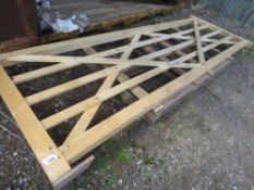 UNTREATED WOODEN FIELD GATE @3.6M WDTH APPROX.