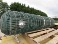 ROLL OF GREEN MESH FENCING.