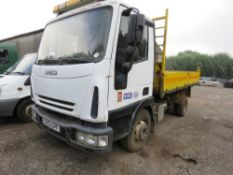 IVECO 7.5TONNE TIPPER LORRY REG:SV53 GPF. WHEN TESTED WAS SEEN TO START, DRIVE, STEER, BRAKE AND TIP
