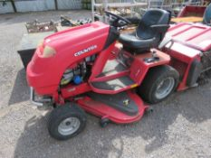 COUNTAX A2050 RIDE ON MOWER WITH COLLECTOR. WHEN TESTED WAS SEEN TO RUN, DRIVE AND MOWERS TURNED. CO