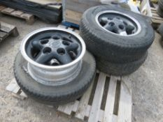 """LANDROVER 16"""" WHEELS AND TYRES/RIMS. (4 X RIMS WITH 3 TYRES)"""
