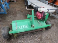 QUAD TOWED FLAIL MOWER, AT120 MODEL, 4FT WIDE APPROX, ELECTRIC START. WHEN TESTED WAS SEEN TO START