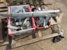 PALLET CONTAINING JOIST HANGERS, ANCHOR BOLTS ETC. NO VAT ON HAMMER PRICE.