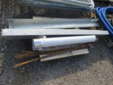 PALLET CONTAINING 2 X LINTELS, ROAD PINS PLUS ROLL OF ECOBRITE MATERIAL. NO VAT ON HAMMER PRICE.