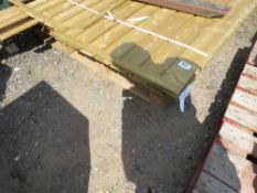 STACK OF ASSORTED PANELS PLUS TIMBER POSTS ETC.