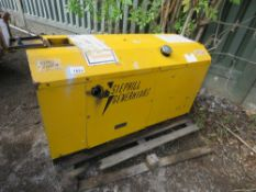 STEPHILL 9KVA SKID GENERATOR WITH YANMAR 2 CYLINDER ENGIE. FROM VISUAL INSPECTION HOSES MISSING FROM