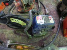 BLUE PETROL ENGINED CUT OFF SAW.