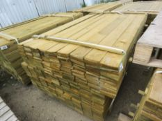 LARGE PACK OF FEATHER EDGE FENCE CLADDING TIMBER BOARDS, 1.49M LENGTH X 10CM WIDTH APPROX.