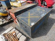 2 X METAL TOOL BOXES, NO KEYS.
