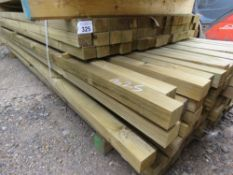 QUANTITY OF TREATED FENCING TIMBER POSTS 2.1-2.7M LENGTH X 54MM X 42MM APPROX.