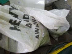 2 X LARGE BAGS OF ASSORTED SAFETY HARNESS AND RELATED ITEMS, UNTESTED.