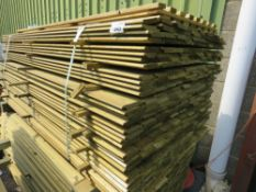 LARGE PACK OF TREATED SHIPLAP CLADDING TIMBER, 1.82M LENGTH X 10CM WIDTH APPROX.