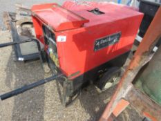 GENSET MG6 BARROW GENERATOR, 6KVA RATED. WHEN TESTED WAS SEEN TO RUN AND SHOWED POWER, BATTERY WAS L