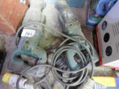 2 X RECIPROCATING 110VOLT SAWS. UNTESTED, CONDITION UNKNOWN.