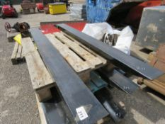 PAIR OF FORKLIFT EXTENSION TINES / SLEEVES.