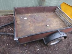 SMALL SIZED SINGLE AXLE TRAILER 6FT X 4FT APPROX.