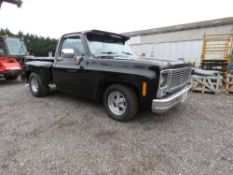 CHEVEROLET CHEVY C10 CLASSIC PICK UP TRUCK REG:OWT 130V. WITH V5. TEST TILL AUGUST 2022. 5.7LITRE CH