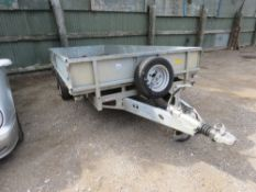 IFOR WILLIAMS TWIN AXLED 14FT PLANT TRAILER WITH DROP SIDES. 3500KG RATED. SN:SCK60000075027551. SO