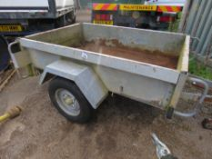 INDESPENSION SINGLE AXLED TRAILER, 6FT X 4FT APPROX, RING HITCH