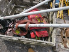 STILLAGE OF MANHOLE ACCESS SAFETY EQUIPMENT: FRAME AND HARNESS ETC, UNTESTED.