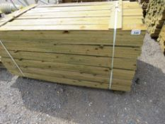 LARGE PACK OF FEATHER EDGE FENCE CLADDING TIMBER BOARDS, 1.75M LENGTH X 10CM WIDTH APPROX.