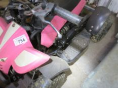 SMALL PETROL ENGINED QUADBIKE WITH KEYS, WHEN TESTED WAS SEEN TO RUN AND DRIVE.
