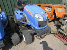ISEKI DIESEL SXG PROFESSIONAL RIDE ON MOWER. BRIEFLY TESTED AND WAS SEEN TO RUN AND DRIVE BUT DECK N