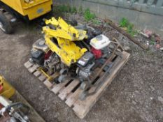PALLET OF COMPACTION PLATE SPARES AND PARTS.