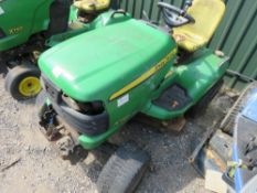 JOHN DEERE X740 PROFESSIONAL RIDE ON MOWER. YEAR 2008. STARTER DISCONNECTED PLUS SOME PARTS APPEARED