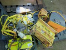 110VOLT EQUIPMENT INCLUDING 2 X TRANSFORMERS, LIGHTS AND DISTRIBUTION PANELS.