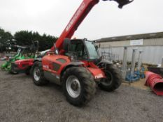 MANITOU MLT731 TURBO TELEHANDLER WITH PICK UP HITCH, YEAR 2005. ROAD REGISTERED:KE55 GHY (LOG BOOK T
