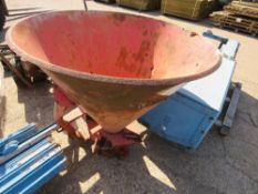 FERTILISER SPREADER FOR COMPACT TRACTOR WITH PTO SHAFT. NO VAT ON HAMMER PRICE.