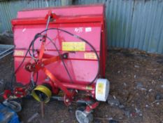 JOLLY FLAIL COLLECTOR FLAIL MOWER FOR COMPACT TRACTOR, 4FT WIDTH APPROX. NO VAT ON HAMMER PRICE.