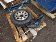 WHEEL PLUS SIDE STEPS FOR 4X4, 195R15 SIZE.