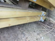 2 X WOODEN FIELD ENTRANCE GATES: 1.8M WIDE APPROX.