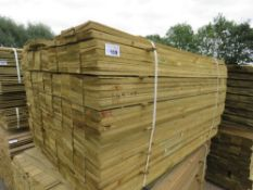 LARGE PACK OF PRESSURE TREATED FEATHER EDGE FENCING TIMBER CLADDING. 1.49M LENGTH X 10CM WIDTH APPRO