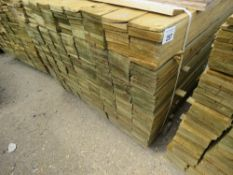 LARGE PACK OF FEATHER EDGE FENCE CLADDING TIMBER BOARDS, 1.04M LENGTH X 10CM WIDTH APPROX.