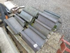 14 X GREY OLD STYLE ROOF RIDGE TILES.