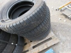 4 X FORD TRANSIT TYRES, MAINLY WINTER TYPE, SIZE 215/175R16C. SOURCED FROM MAJOR UK ROADS CONTRACTOR