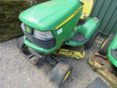 JOHN DEERE X740 PROFESSIONAL RIDE ON MOWER. YEAR 2008. WHEN TESTED WAS SEEN TO TURN OVER BUT NOT STA